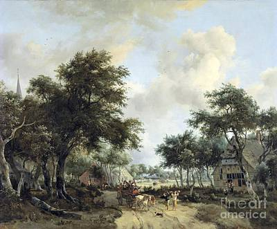Mets Painting - Landschap Met Vrolijk by MotionAge Designs