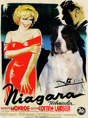 Painting - Landseer Art Canvas Print - Niagara Movie Poster by Sandra Sij