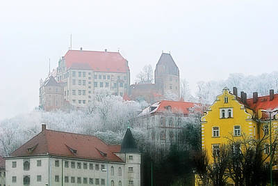Landshut Bavaria On A Foggy Day Art Print by Christine Till