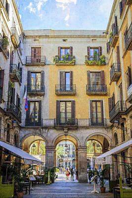 Lane To Placa Reial Art Print by Joan Carroll