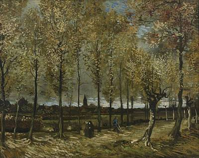 Painting - Lane With Poplars Near Nuenen by Artistic Panda