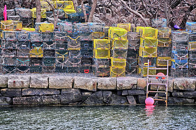 Photograph - Lane's Cove Lobster Traps by Mike Martin