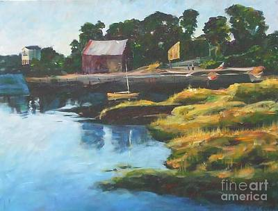 Painting - Lane's Cove Sunset by Claire Gagnon