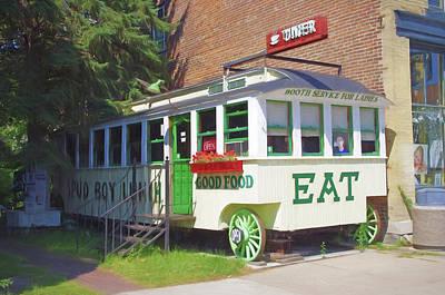 Spuds Photograph - Lanesboro Diner by Tom Reynen