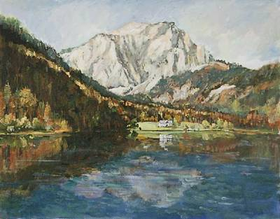 Langbathsee Austria Art Print by Alexandra Maria Ethlyn Cheshire