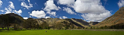 Langdale Panorama Art Print by Chris Whittle