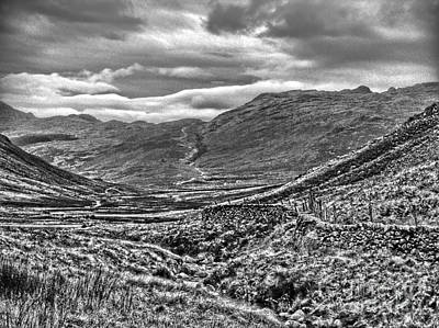 Photograph - Langdale Pike In Greyscale by Joan-Violet Stretch