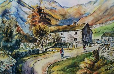 Rambling Painting - Langdale Pikes by Andrew Read