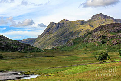 Langdale Pikes From Blea Tarn In The Lake District Art Print by Louise Heusinkveld