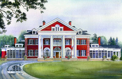 Langdon Hall Art Print by Hanne Lore Koehler