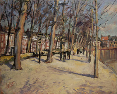 Painting - Lange Vijverberg The Hague by Nop Briex