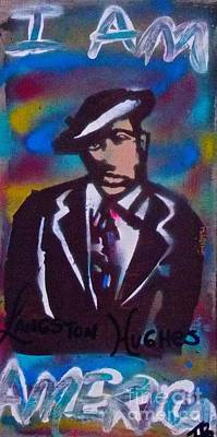 Free Speech Painting - Langston Blues by Tony B Conscious