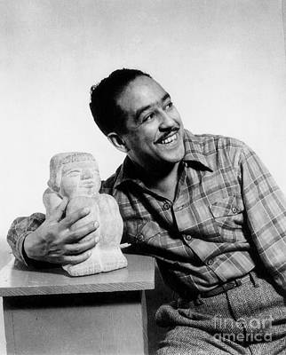 Harlem Photograph - Langston Hughes (1902-1967) by Granger