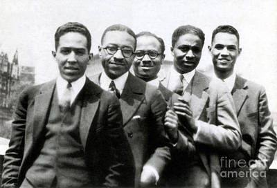 Langston Hughes And Friends, 1924 Art Print by Science Source