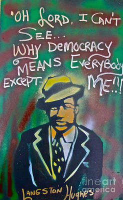 Free Speech Painting - Langston Hughes by Tony B Conscious