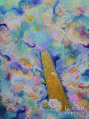 Painting - Language In The Clouds by Anne Cameron Cutri