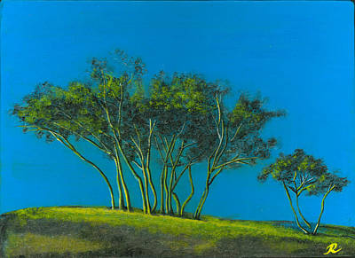 Holm Painting - Languedoc Trees by Robin Marshall