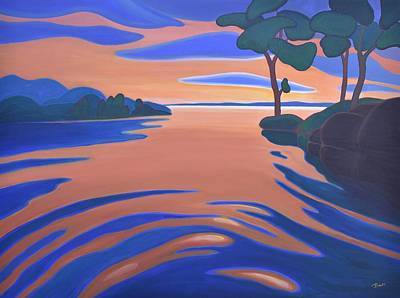 Painting - Languid Evening by Barbel Smith