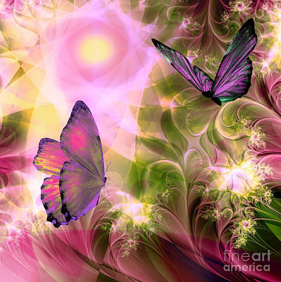 Fractal Painting - Languid Journeys by Mindy Sommers
