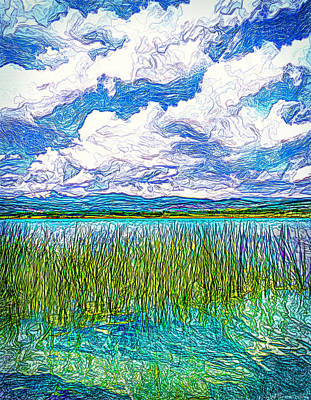 Digital Art - When Lake Meets Sky - Boulder County Colorado by Joel Bruce Wallach