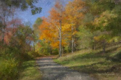 Langwater Path In October Art Print