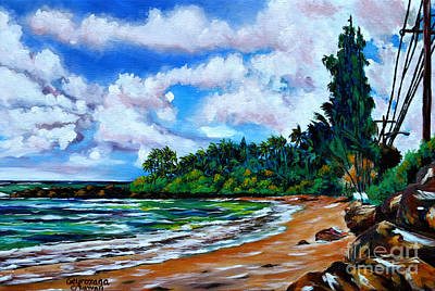 Laniakea Beach Art Print