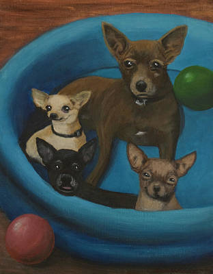 Painting - Lanice's Dogs by Barbara J Blaisdell