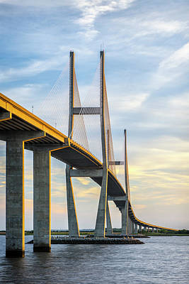 Photograph - Lanier Bridge At Sunset by Jon Glaser