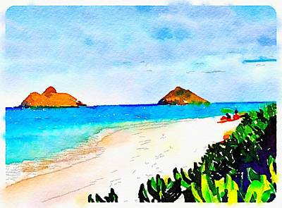 Photograph - Lanikai Artsy by Gini Moore