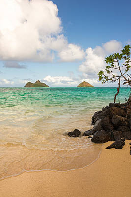 Tropical Scene Photograph - Lanikai Beach 1 - Oahu Hawaii by Brian Harig