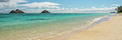 Photograph - Lanikai Beach 4 Pano - Oahu Hawaii by Brian Harig