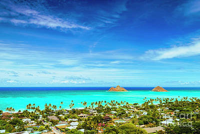 Art Print featuring the photograph Lanikai Beach From The Pillbox Trail by Aloha Art
