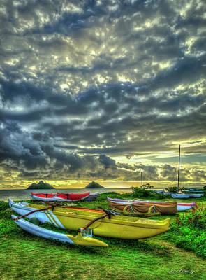 Photograph - Lanikai Beach Majestic Sunrise Hawaii Collection Art by Reid Callaway