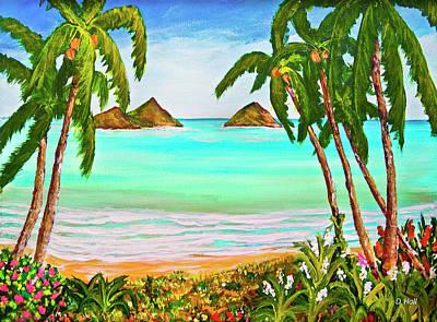 Lanikai Beach Oahu Hawaii #358 Art Print by Donald k Hall