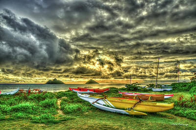 Photograph - Lanikai Beach Sunrise Hawaii Collection Art by Reid Callaway