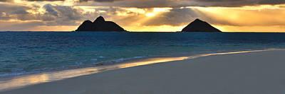 Lanikai Beach Sunrise Panorama - Kailua Oahu Hawaii Art Print