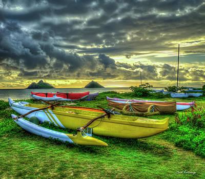 Photograph - Lanikai Beach Sunrise Too Oahu Hawaii Collection Art by Reid Callaway