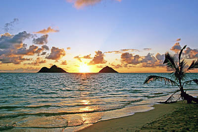 Best Ocean Photograph - Lanikai Sunrise  by Kevin Smith