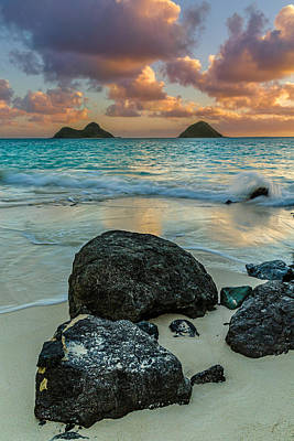 Photograph - Lanikai Sunrise by Leigh Anne Meeks