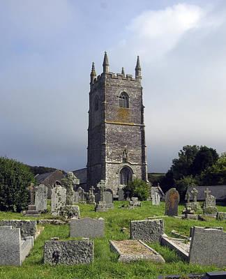 Coastal Photograph - Lansallos Church Cornwall by Kurt Van Wagner