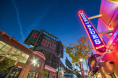 Fenway Park Photograph - Lansdowne Street Fenway Park House Of Blues Boston Ma by Toby McGuire