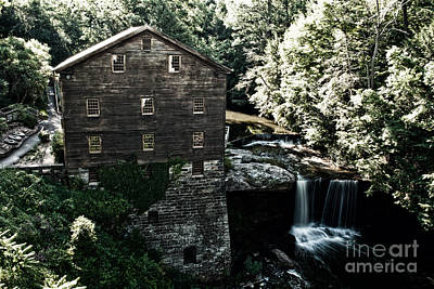 Waterfall Photograph - Lanterman's Mill 1 by Pittsburgh Photo Company