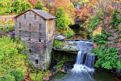 Architectural Photograph - Lanterman's Mill And Bridge by Marcia Colelli
