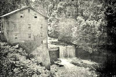 Photograph - Lanterman's Mill And Falls Black And White by Lisa Wooten