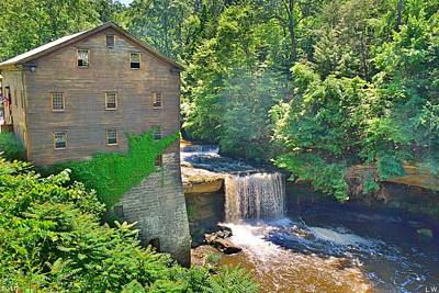 Photograph - Lanterman's Mill And Falls by Lisa Wooten