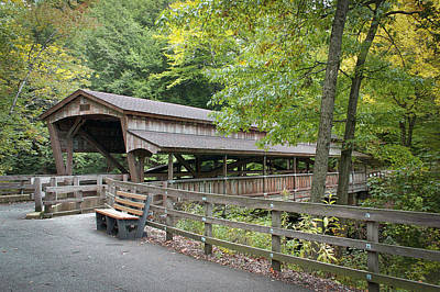 Photograph - Lanterman's Mill Covered Bridge by Jack R Perry