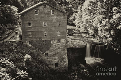 Structure Photograph - Lanterman's Mill Sepia 1 by Pittsburgh Photo Company