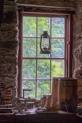 Photograph - Lantern And Window by Tom Singleton