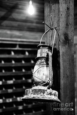 Oil Lamp Photograph - Lantern - Bw by Scott Pellegrin