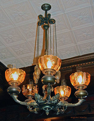 Lantern Digital Art - Lantern Chandelier by DigiArt Diaries by Vicky B Fuller